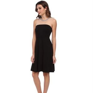 Bailey44 |  Sheer illusion jewel neck, black dress